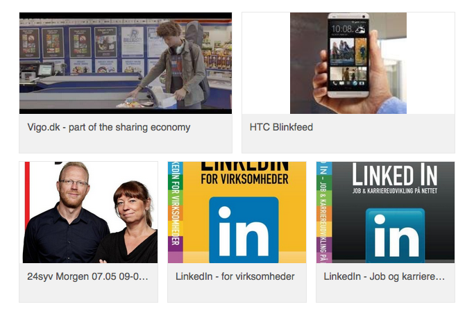 LinkedIn profil opdatering af kort beskrivelse og erfaring med links, videoer, billeder etc.